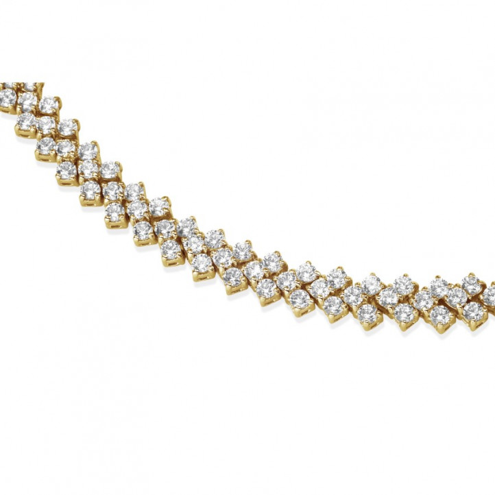 19.50 karaat diamanten halsketting in rood goud met visgraat design