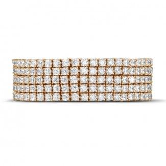Exclusieve juwelen - 25.90 karaat brede diamanten tennisarmband in wit goud
