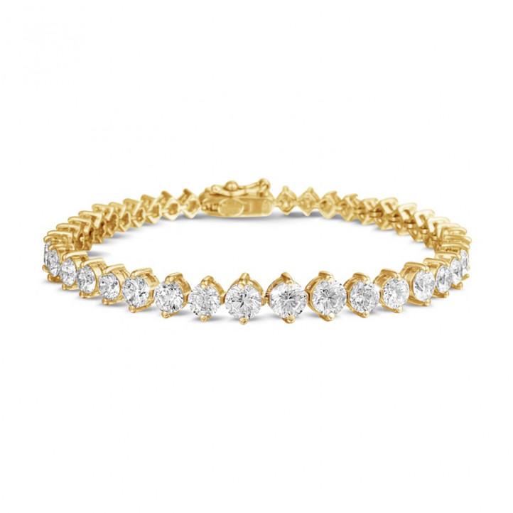 7.40 karaat diamanten dégradé armband in geel goud
