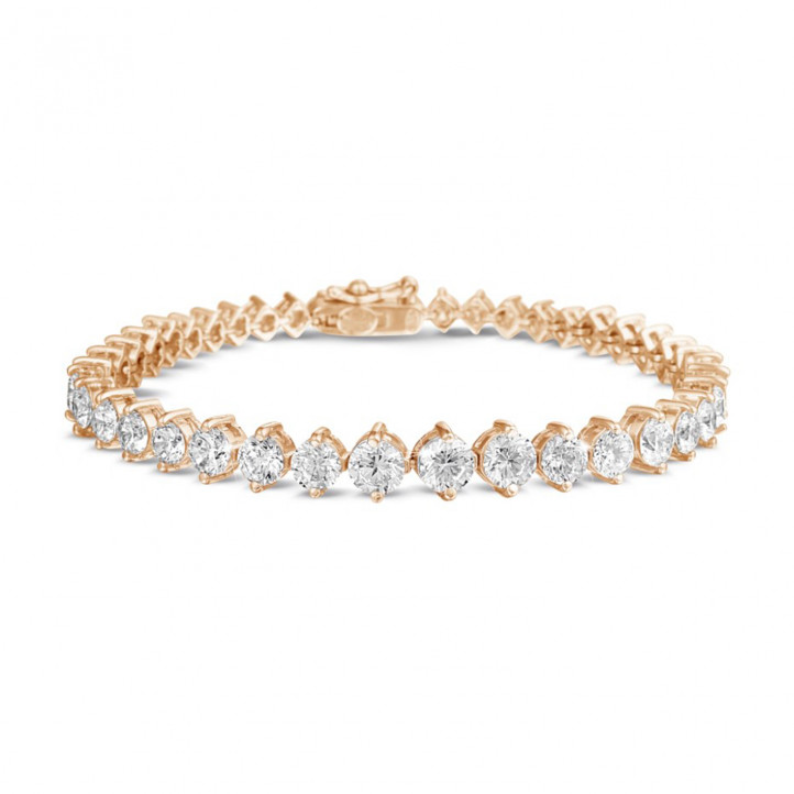 7.40 karaat diamanten dégradé armband in rood goud