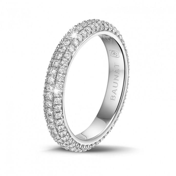 0.85 karaat diamanten alliance (volledig gezet) in platina