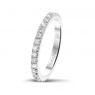 Diamanten alliance - 0.55 karaat alliance (volledig rondom gezet) in wit goud met ronde diamanten
