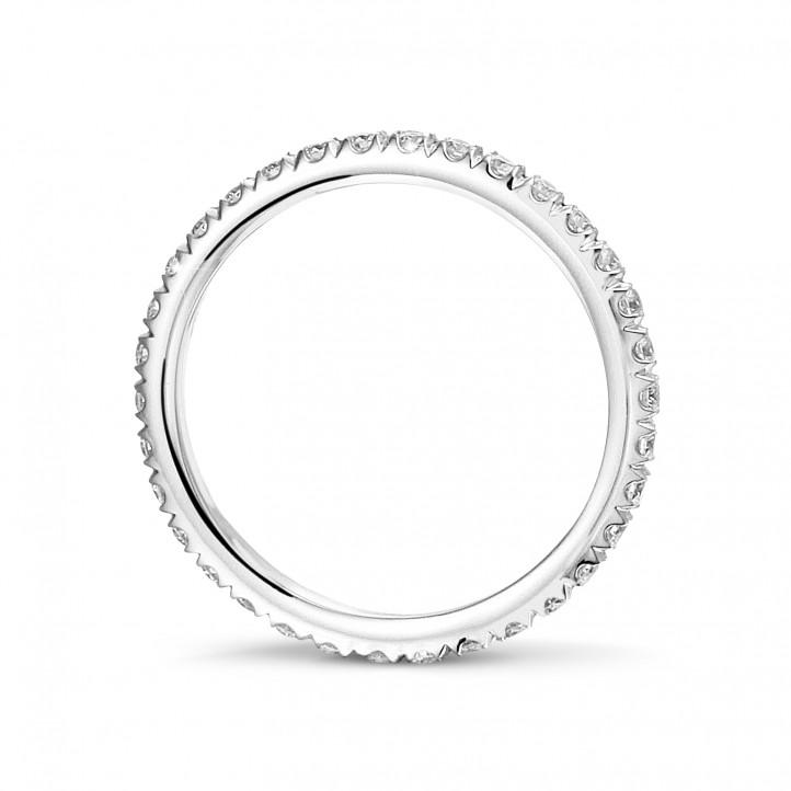 0.55 karaat alliance (volledig rondom gezet) in wit goud met ronde diamanten
