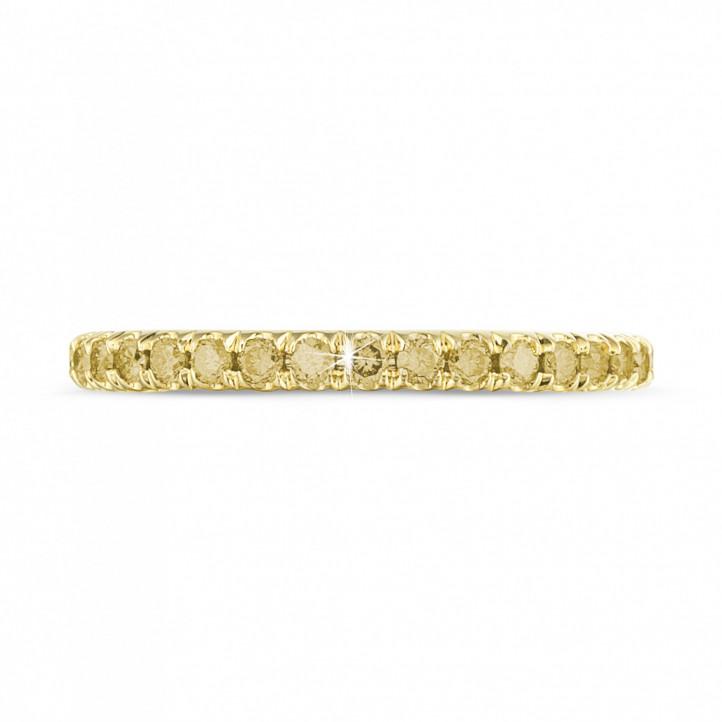 0.55 karaat alliance (volledig rondom gezet) in geel goud met gele diamanten