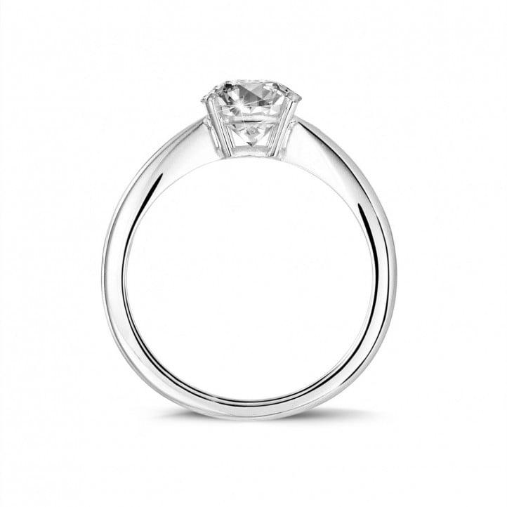 1.90 karaat solitaire ring in wit goud met ovale diamant