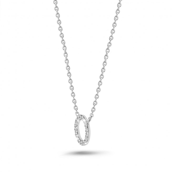 0.12 karaat diamanten eternity halsketting in wit goud