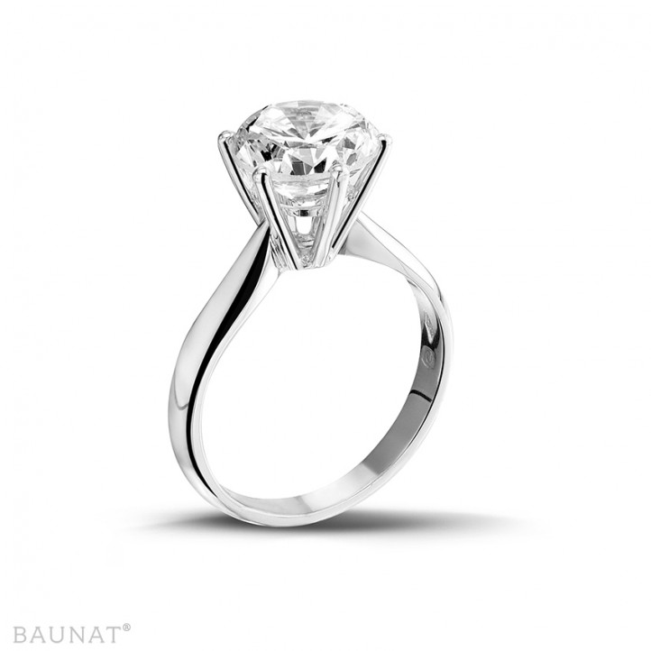 3.00 karaat diamanten solitaire ring in wit goud