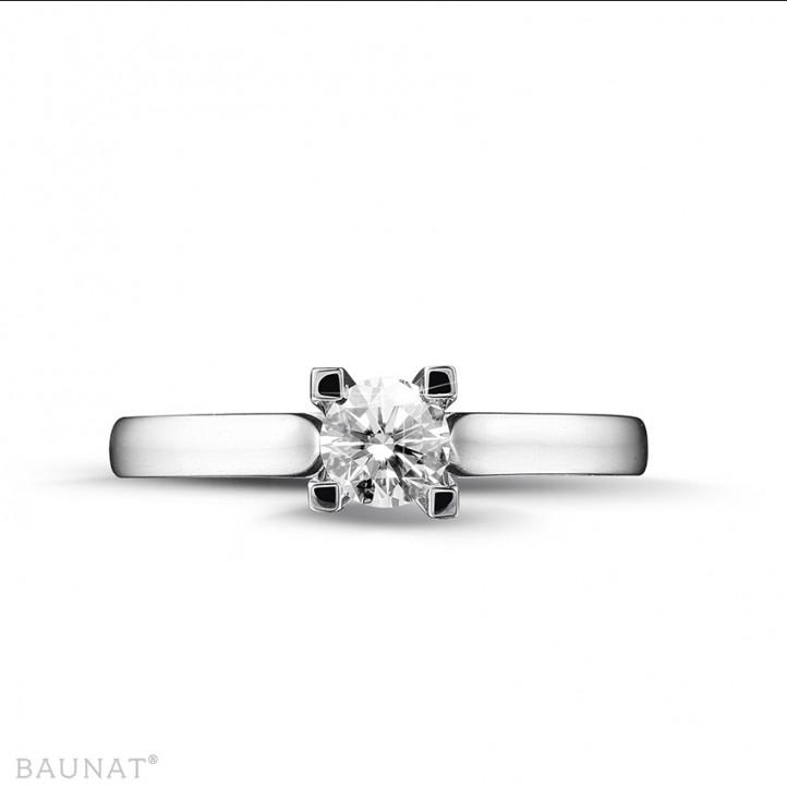 0.30 karaat diamanten solitaire ring in wit goud