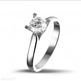 0.75 karaat diamanten solitaire ring in wit goud