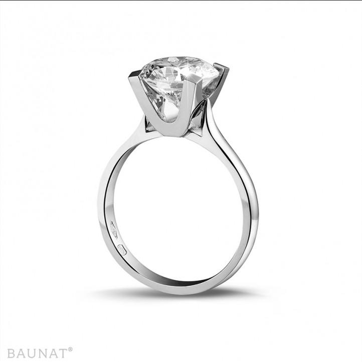 3.00 karaat diamanten solitaire ring in wit goud
