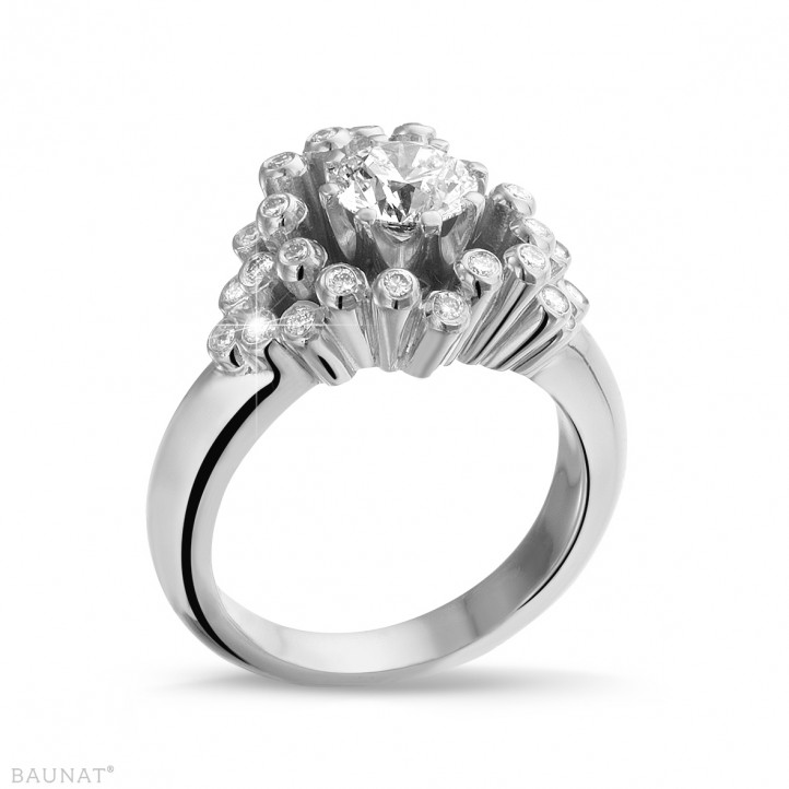 0.90 caraat diamanten design ring in wit goud