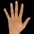 0.25 karaat diamanten solitaire design ring in geel goud met acht griffen