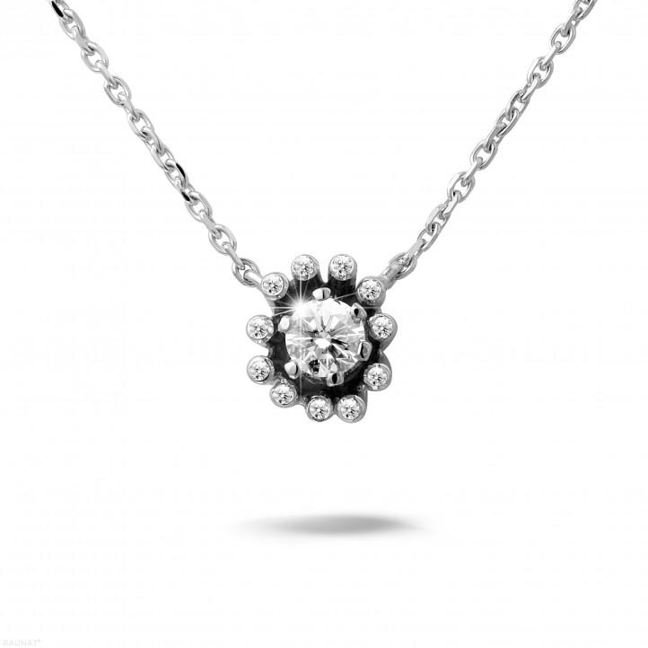 0.25 caraat diamanten design hanger in wit goud