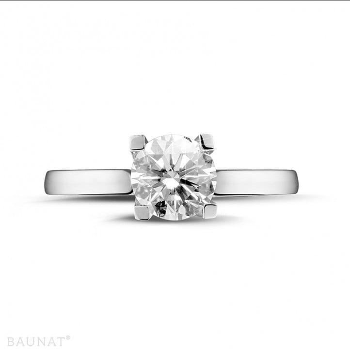 1.50 caraat diamanten solitaire ring in wit goud