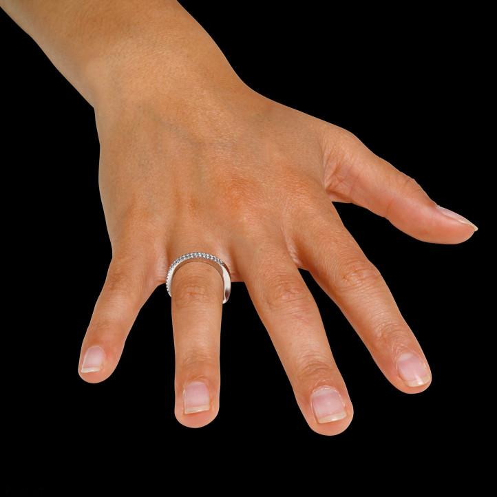 0.26 karaat diamanten design ring in wit goud
