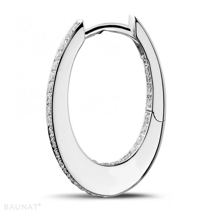 0.22 caraat diamanten creolen (oorbellen) in wit goud