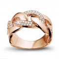 0.60 caraat diamanten gourmet ring in rood goud