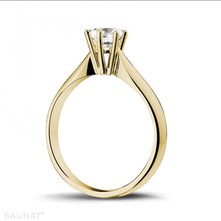 0.50 karaat diamanten solitaire ring in geel goud