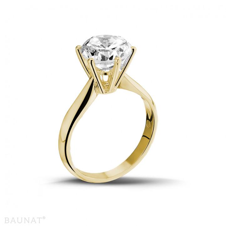 3.00 caraat diamanten solitaire ring in geel goud