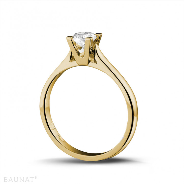 0.30 caraat diamanten solitaire ring in geel goud