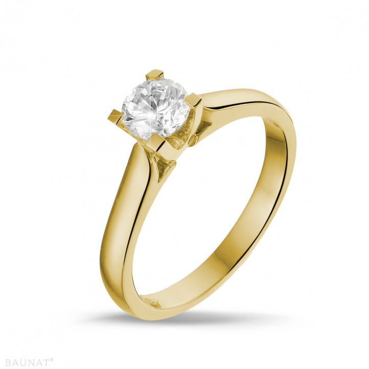 0.50 caraat diamanten solitaire ring in geel goud
