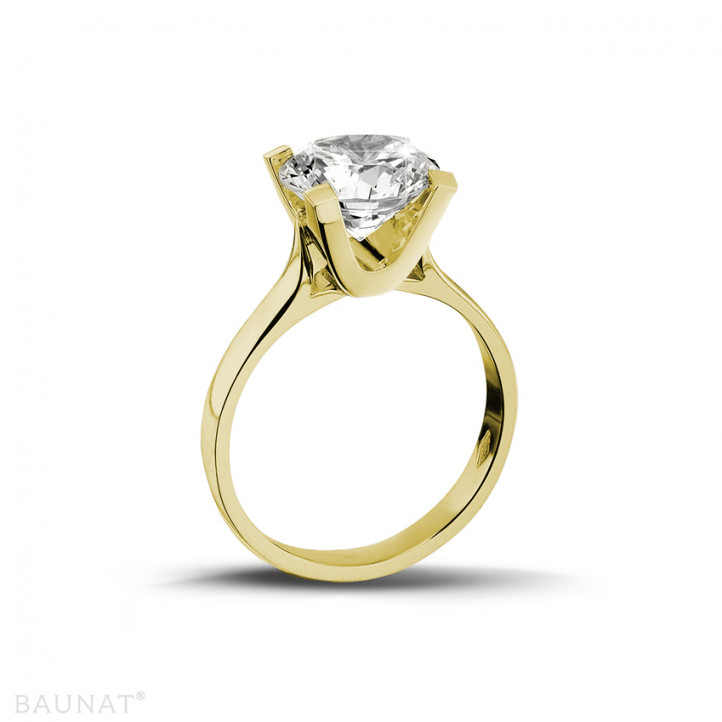2.00 caraat diamanten solitaire ring in geel goud