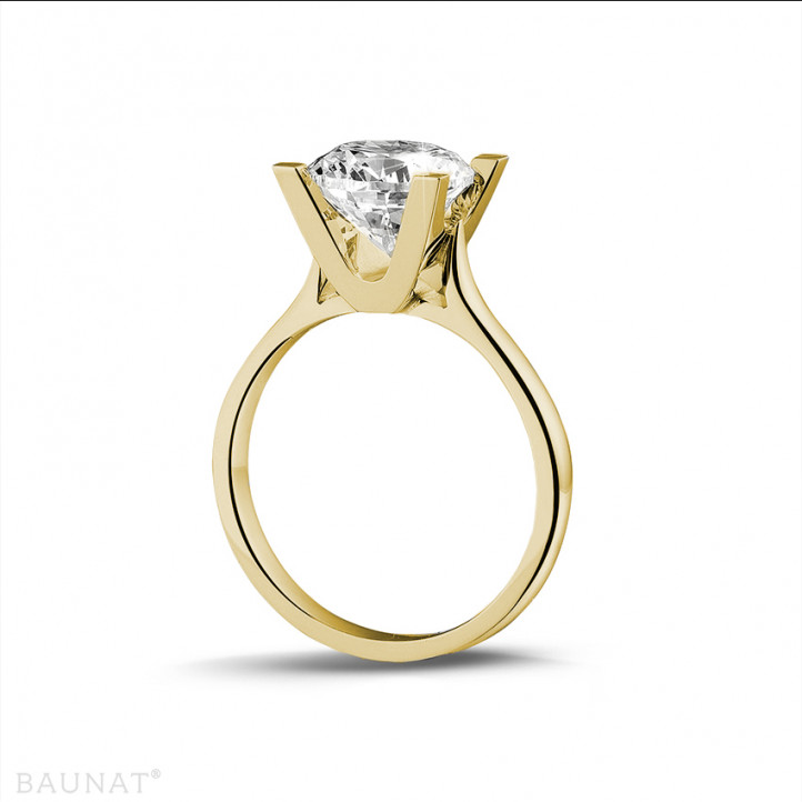 2.50 karaat diamanten solitaire ring in geel goud