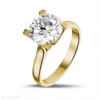 3.00 caraat diamanten solitaire ring in geel goud