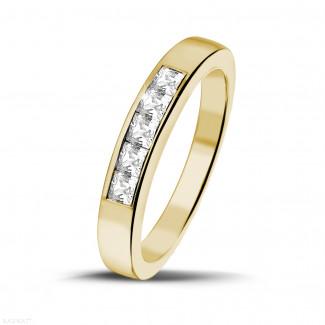 0.50 karaat geelgouden alliance met princess diamanten
