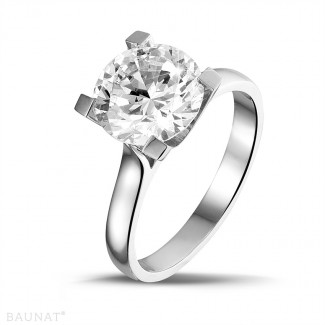 3.00 caraat diamanten solitaire ring in platina