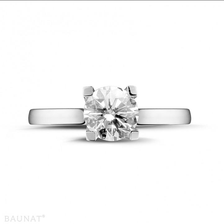 1.50 karaat diamanten solitaire ring in platina