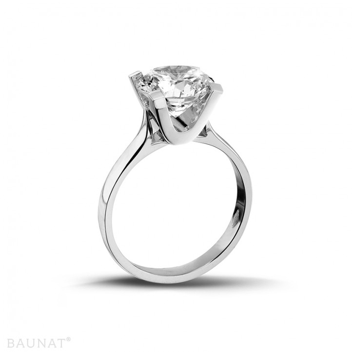 2.00 caraat diamanten solitaire ring in platina