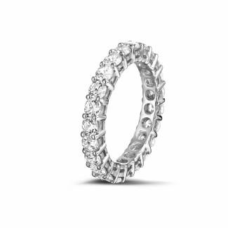 铂金钻石婚戒 - 2.30克拉铂金钻石永恒戒指