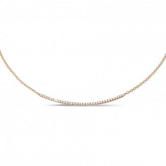 钻石项链 - 0.30克拉玫瑰金钻石项链