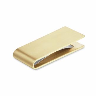 钻石袖扣 - 黄金哑光钱夹