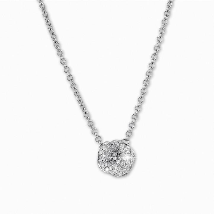 设计系列0.25克拉铂金钻石项链
