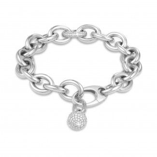 BAUNAT Love Connections - 0.34克拉吸睛款白金钻石手链包含1.44克拉钻石吊坠