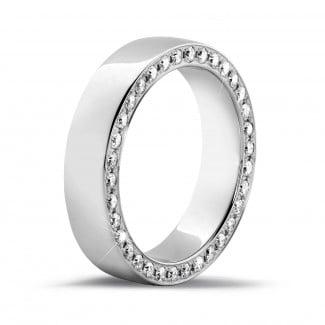 创意婚戒 - 0.70克拉密镶钻石白金永恒戒指
