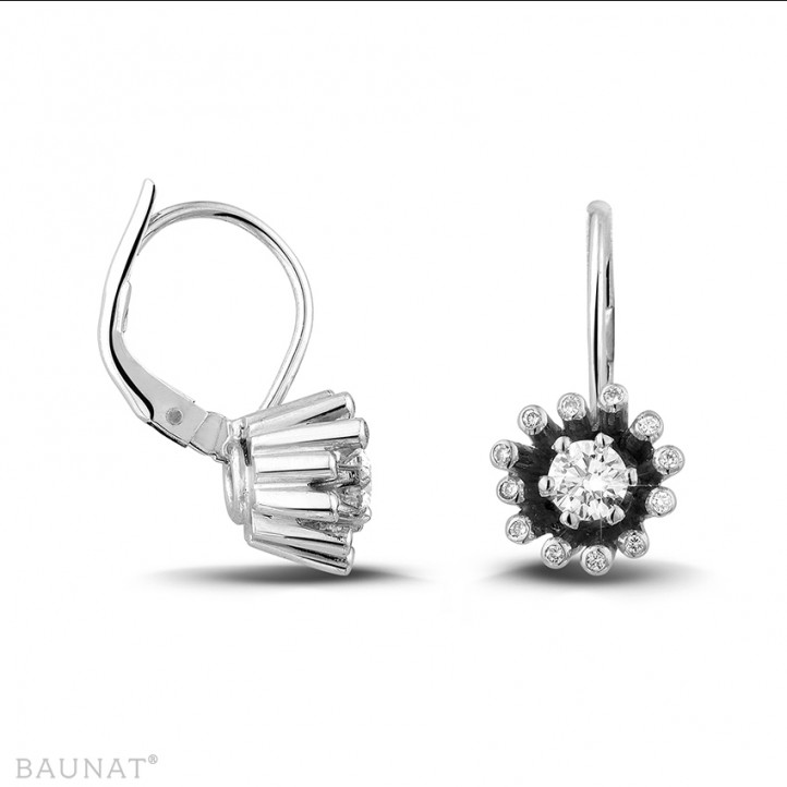 设计系列0.50克拉白金钻石耳环