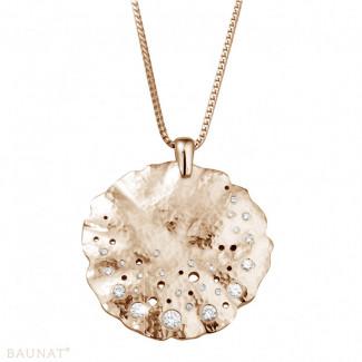 玫瑰金钻石项链 - 设计系列0.46克拉玫瑰金钻石吊坠