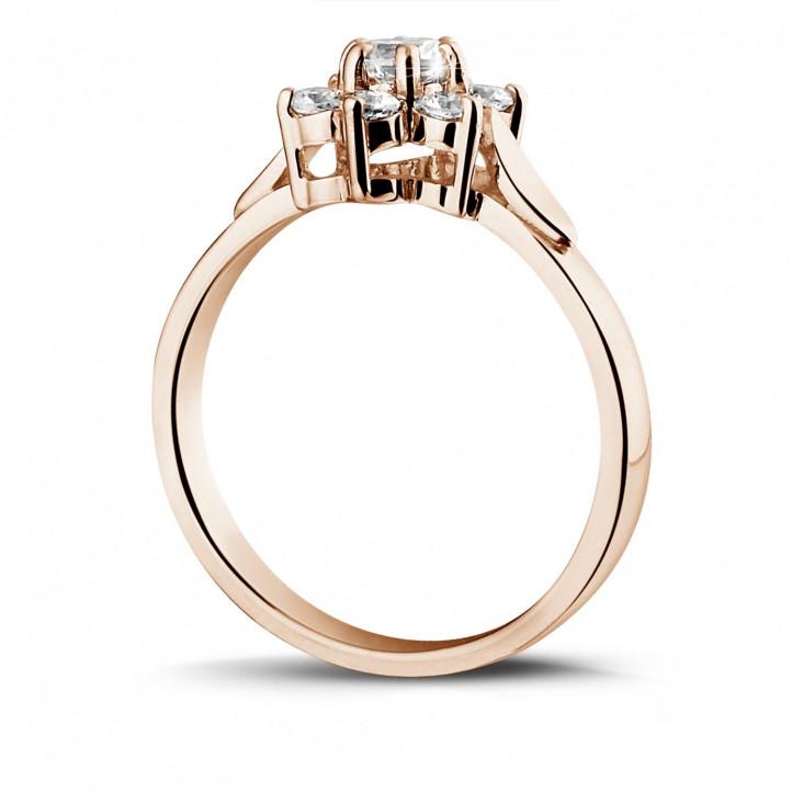 花之恋0.50克拉玫瑰金钻石戒指