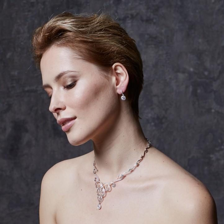 Halo 光环1.55克拉玫瑰金密镶钻石耳环