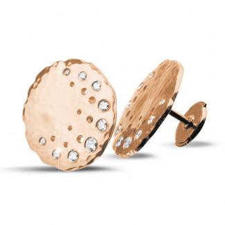 - 设计系列0.26克拉玫瑰金钻石耳环