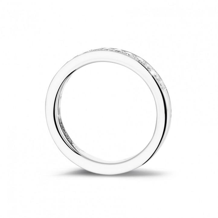 0.25克拉镶钻白金永恒戒指 (半环镶钻)