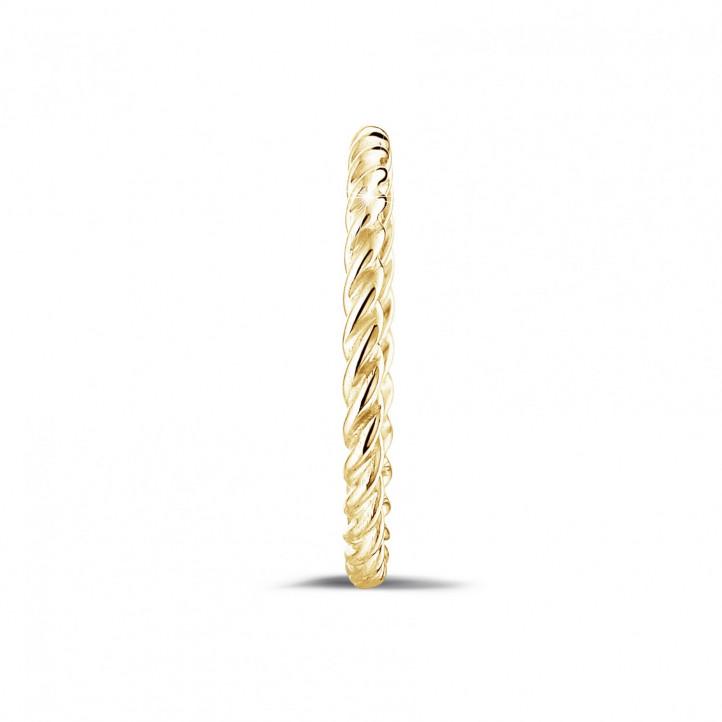 可叠戴螺旋黄金戒指