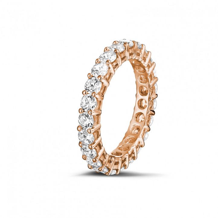 2.30克拉玫瑰金钻石永恒戒指