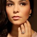 设计系列0.90克拉玫瑰金钻石戒指