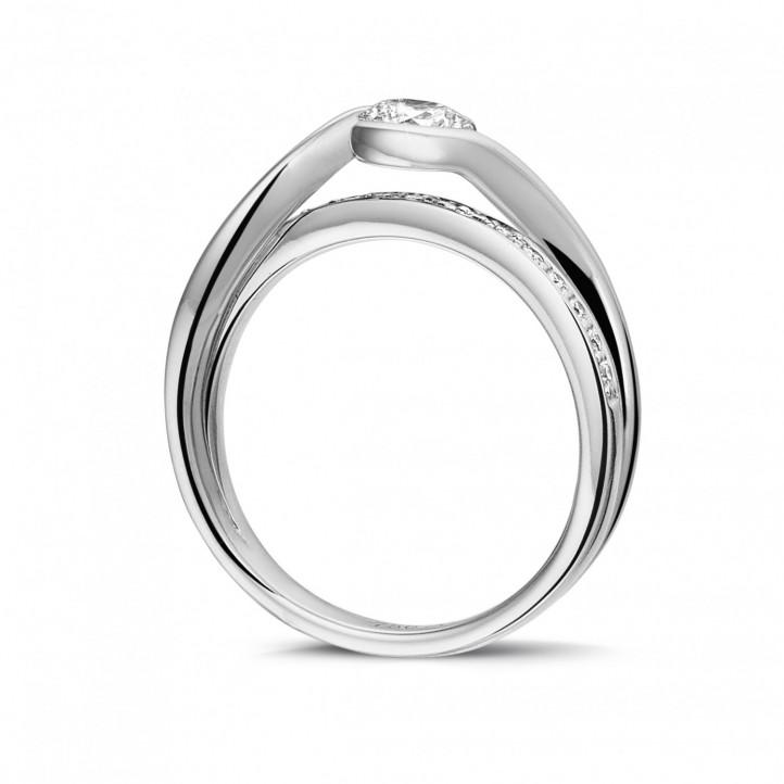 0.50克拉白金单钻戒指