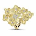 设计系列0.30克拉花之恋黄金钻石戒指