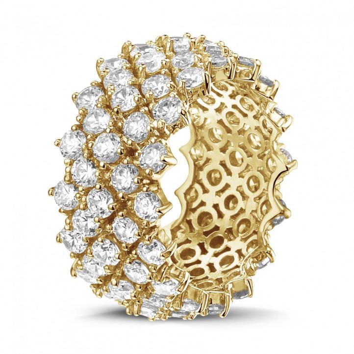 黄金钻石编织纹戒指